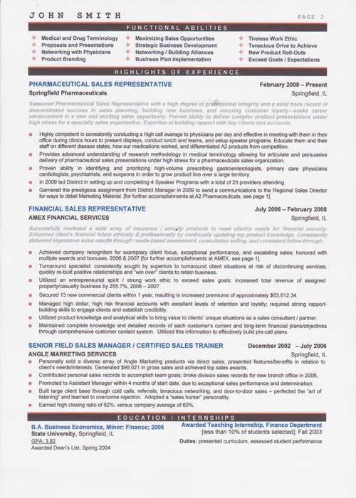 pharmaceutical sales resume writing service